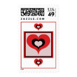 Squared heart stamp