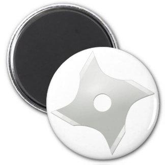 Squared ninja star refrigerator magnets