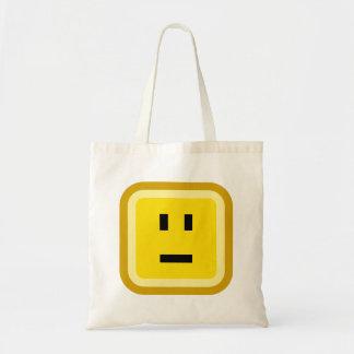 squared smiley meh tote bag