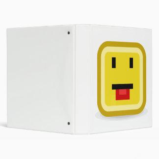 squared smiley poking tongue binder