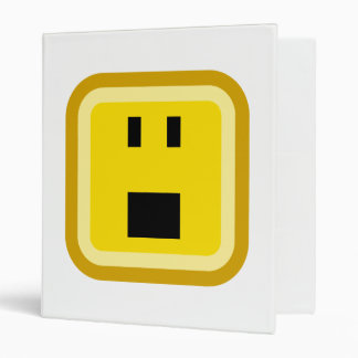 squared smiley shocked binder