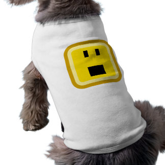 squared smiley shocked doggie shirt