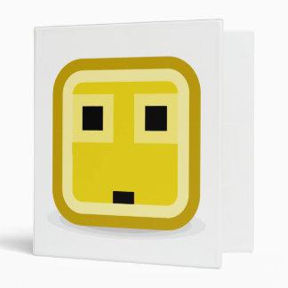 squared smiley surprised 3 ring binder