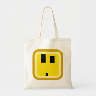 squared smiley what the wtf face tote bag