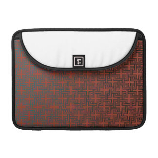 Squared Squares Black on Red MacBook Pro Sleeve