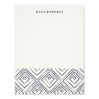 Squared Stationery - Navy Card