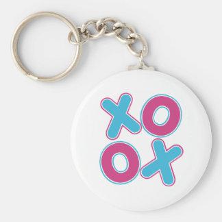 Squared XOXO Basic Round Button Keychain