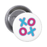 Squared XOXO Pinback Buttons