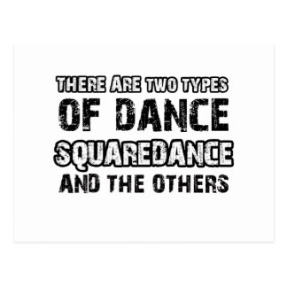 Squaredance dancing designs postcard