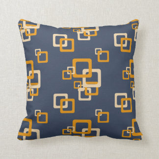 Squareez Blue Orange - Pattern Pillows