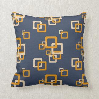 Squareez Blue Orange - Pattern Pillows
