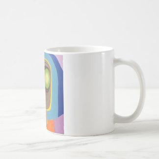 Squareface - un tesoro de la tienda de descuento taza básica blanca