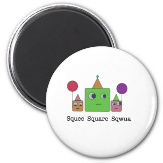 SquareFamily_monsters.012 2 Inch Round Magnet