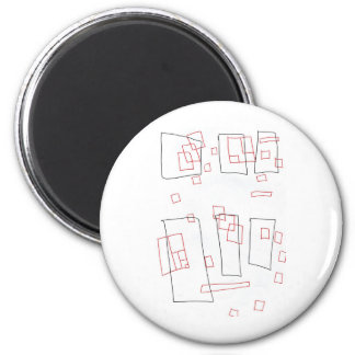 Squares a rectangle 2 inch round magnet
