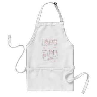 Squares a rectangle adult apron