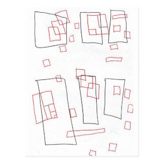 Squares a rectangle postcard