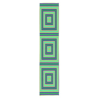 Squares abstract pattern short table runner
