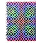 Squares Alternate Spiral Note Book