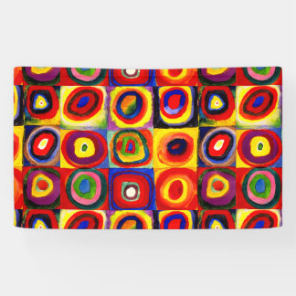 Squares and Circles Farbstudie Quadrate Kandinsky Banner