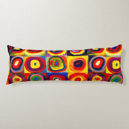 Squares and Circles Farbstudie Quadrate Kandinsky Body Pillow
