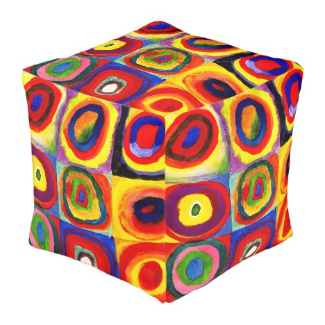 Squares and Circles Farbstudie Quadrate Kandinsky Pouf