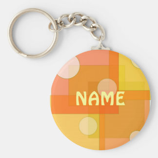 Squares and circles - Keychain