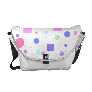Squares and Circles-Multi Colored Courier Bag