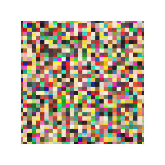 squares and dots canvas print