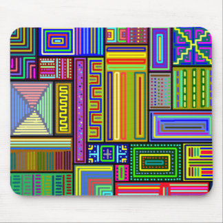 Squares and Rectangles mousepad multicolored