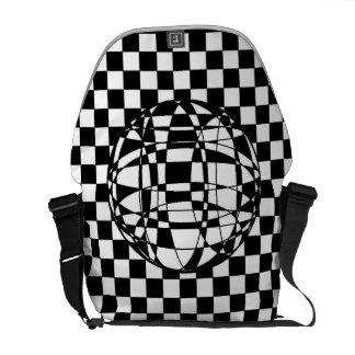 Squares and Sphere Rickshaw Medium Messenger Bag