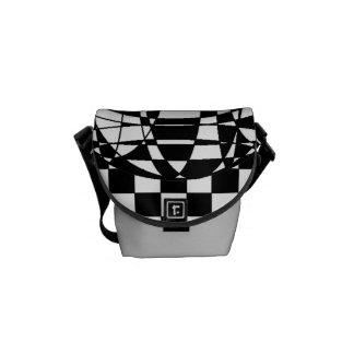 Squares and Sphere Rickshaw Mini Messenger Bag