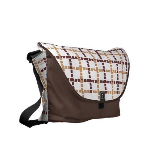 Squares and squares Messenger bag