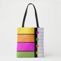 Squares and Stripes Tote Bag in Rainbow