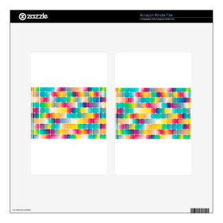 Squares background kindle fire decals