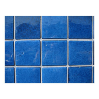 squares blue poster