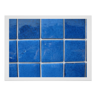 squares blue print