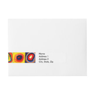 squares circles  Farbstudie Quadrate kandinsky Wrap Around Address Label