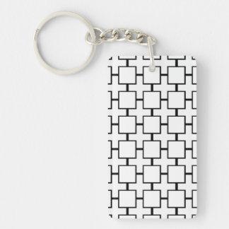 Squares & Crosses Keychain