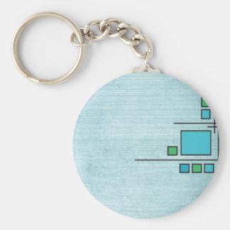 Squares Custom Design Keychain