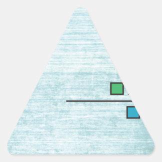 Squares Custom Design Triangle Sticker