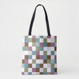 Squares Geometric Pattern Generator samples Tote Bag