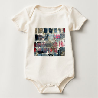 Squares of experimentation baby bodysuit