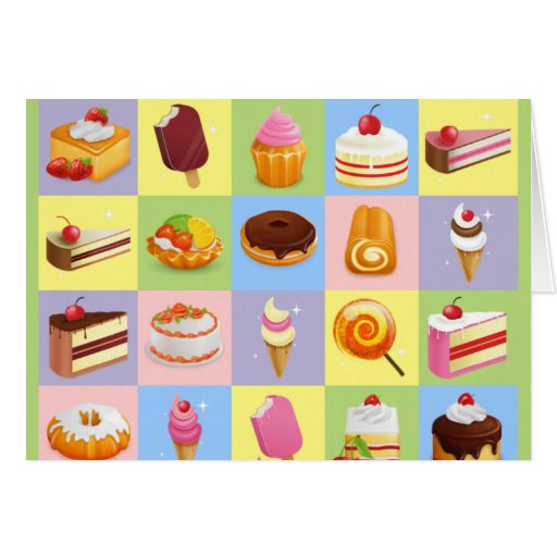 Squares of Treats Greeting Card