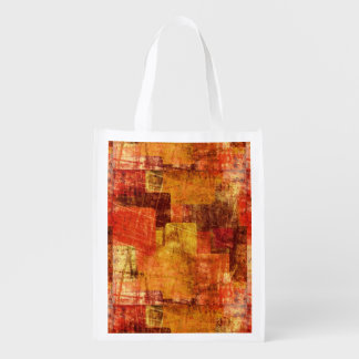 Squares on the grunge wall, abstract background reusable grocery bag