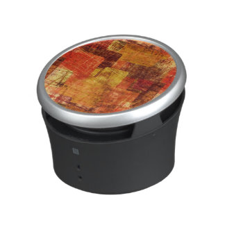 Squares on the grunge wall, abstract background speaker