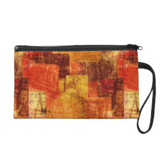 Squares on the grunge wall, abstract background wristlet