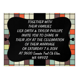 Squares pattern 6.5x8.75 paper invitation card