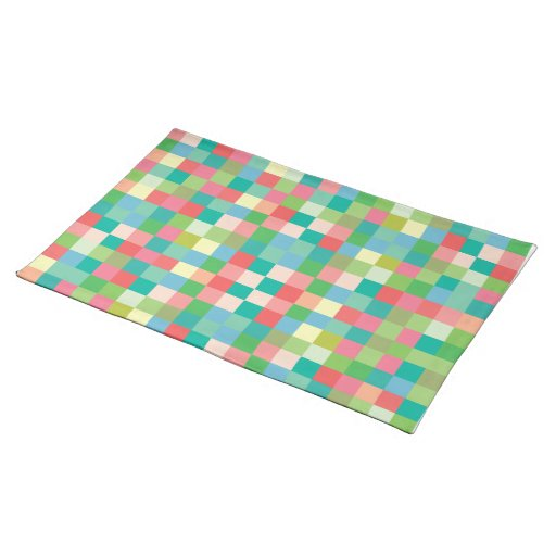 Squares Pattern Modern Designer Placemats Zazzle