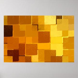 squares pattern poster