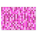 [ Thumbnail: Squares Pattern (Various Shades of Pinks and Reds) Tissue Paper ]